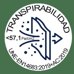 Logo Transpirabilidad 57 Mascarilla